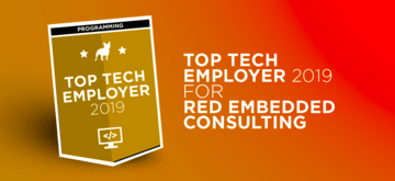 Red Embedded Consulting with the title of  Top Tech Employer 2019